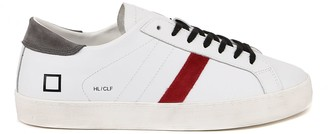 D.A.T.E Hill Low White, Red Leather Sneakers