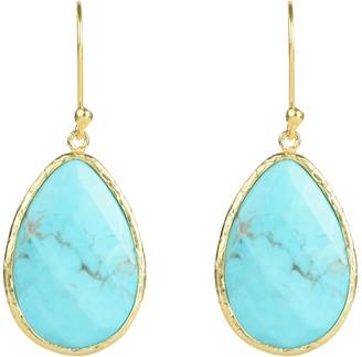 Latelita Single Drop Earring Turquoise Gold