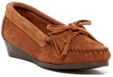 Minnetonka Kilty Slip-On Wedge Shoe