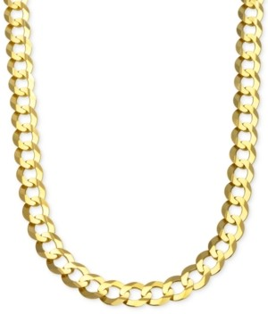 Italian Gold Curb Chain Link Necklace (10 mm) in Solid 10k Gold