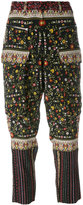 No.21 drop-crotch cropped trousers - women - Silk/Acetate - 38