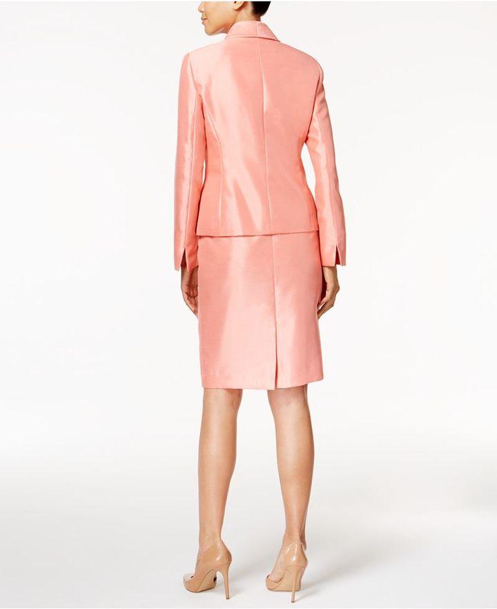 Le Suit Shimmer Skirt Suit, Regular & Petite