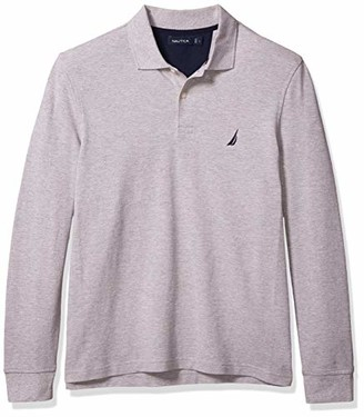 Nautica Men's Classic Fit Long Sleeve Pique Polo