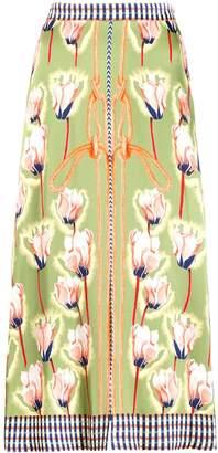 Temperley London floral rope print midi skirt