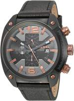 Diesel Men's 'Overflow' Quartz Stainless Steel and Leather Casual Watch, Color: (Model: DZ4462)