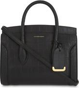 Alexander McQueen New Heroine crocodile-embossed leather shoulder bag