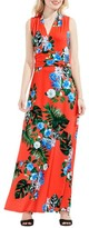 Vince Camuto Women's Havana Tropical Halter Style Maxi Dress
