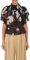 Ulla Johnson Women's Liv Flower-Print Tiered Silk Blouse