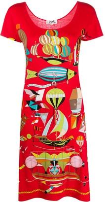 Hermes 2000s pre-owned Les Folies du Ciel dress