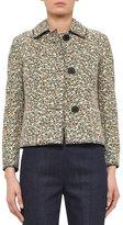 Akris Punto Static Tweed Three-Button Jacket, Multi