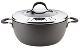 Circulon 5.5QT. Momentum Hard-Anodized Non-Stick Covered Casserole with Locking Straining Lid