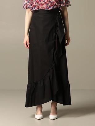 Twin-Set Long Poplin Skirt