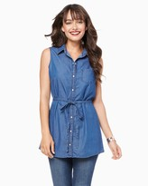 Charming charlie Denim Belted Tunic