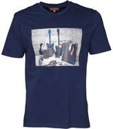 Ben Sherman Distorted Sound Of Rock & Roll T-Shirt Admiral Blue