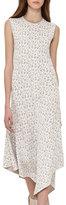 Akris Sleeveless Jacquard A-Line Dress, Blanco/Nude