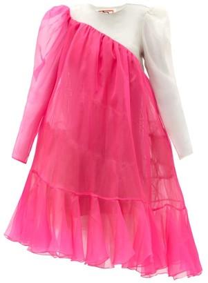 Matty Bovan - Emma Asymmetric Puff-sleeve Organza Dress - Pink