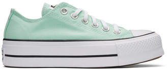 Converse Green Chuck Taylor All Star Lift Low Sneakers