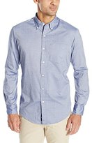 U.S. Polo Assn. Men's Dobby Print Long Sleeve Oxford Shirt