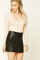 Forever 21 FOREVER 21+ Contemporary Scoop Neck Top