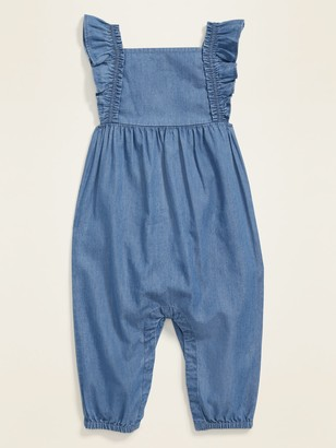 Old Navy Chambray Ruffled-Strap Overalls for Baby