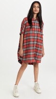 Thumbnail for your product : R 13 Plaid Oversized Boxy Shirtdress