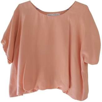 Graham & Spencer Pink Silk Top for Women