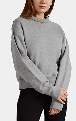 Maison Margiela Women's Padded-Collar Cotton Sweatshirt - Gray