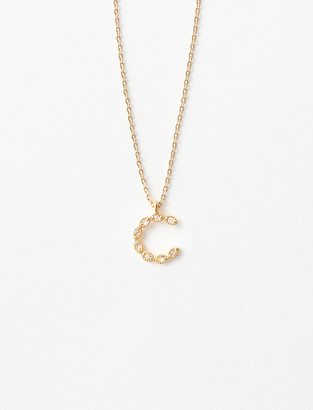Maje Rhinestone C necklace