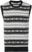 Alexander McQueen geometric knit vest - men - Cashmere - M