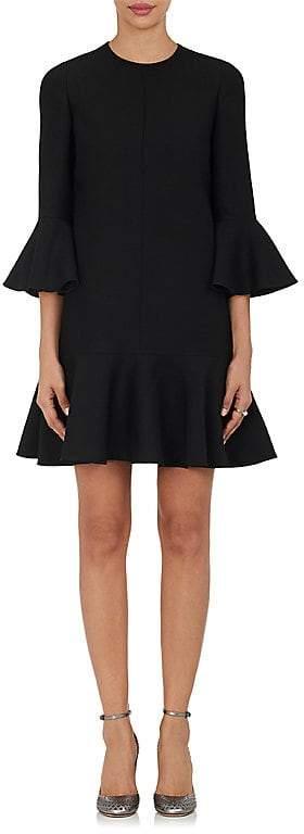 Valentino Women's Virgin Wool-Silk Ruffle Dress