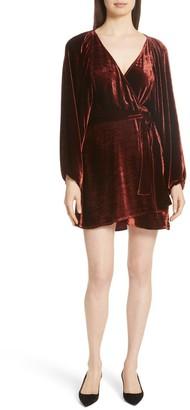 A.L.C. Carlo Velvet Wrap Dress (Regular & Plus Size)