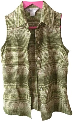 Brooks Brothers Green Silk Top for Women