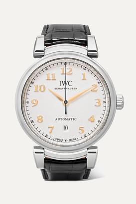 IWC SCHAFFHAUSEN - Da Vinci Automatic 40mm Stainless Steel And Alligator Watch - Silver