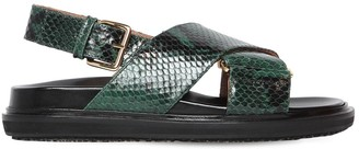 Marni 20mm Crisscross Leather Flat Sandals