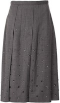 No.21 Crystal-Embellished Pleated Skirt