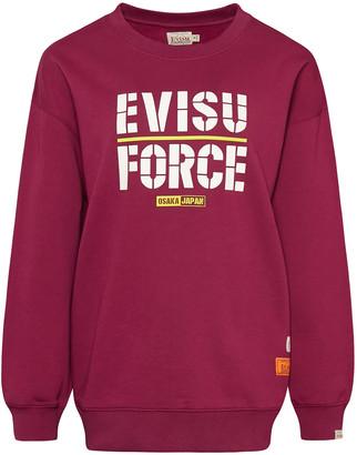 Evisu Sweatshirt With Kamon And Force Print