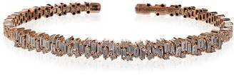 Suzanne Kalan 18K rose gold and diamond firework bracelet