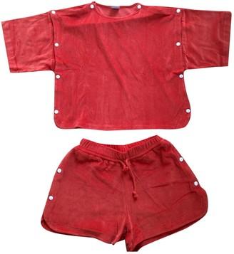 Base Range Orange Cotton Jumpsuits