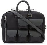 Valas - Explorer messenger bag - men - Calf Leather/Canvas - One Size