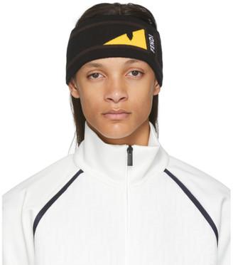 Fendi Black and Yellow Bag Bugs Mono Eye Headband
