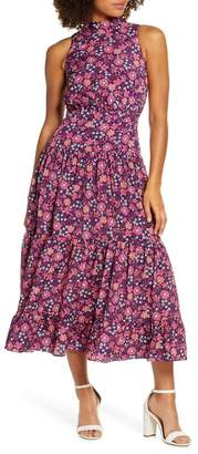 Chelsea28 Floral Print Halter Neck Midi Dress