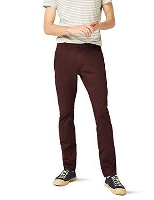 Selected Men's Shhyard Decadent Choco Slim St Pant Noos Trouser, Brown Chocolate, W34/L32 (Size: 34)