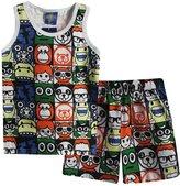 XiaoYouYu Little Boy's 2 PCS Cartoon Sleeveless Tank Tops Shorts Clothing Sets US Size 3T