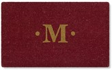 Williams-Sonoma Williams Sonoma Inverted Red Monogram Doormat