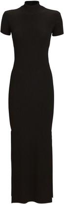 Anna October Rib Knit Turtleneck Dress