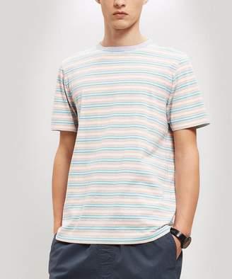 Albam Riley Thin Stripe Cotton T-Shirt