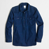J.Crew Factory Petite chambray shirt in boy fit