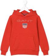 Gant Kids embroidered logo hoodie