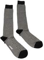 Missoni Gm00cmu5240 0004 Black/cream Knee Length Socks.