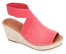 Gentle Souls by Kenneth Cole Women's Charli Ankle Strap Espadrille Wedge Sandals